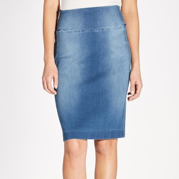 738b9f9037 Level 99 Skirts | Level 88 Denim Pencil Skirt | Poshmark